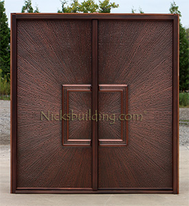 copper double door