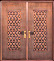 copper exterior double doors