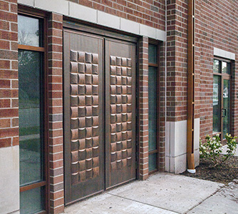 Copper Entry Doors profile view