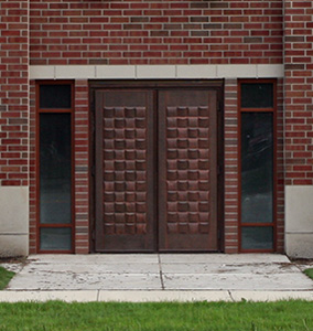Copper Entry Double Door Outswing