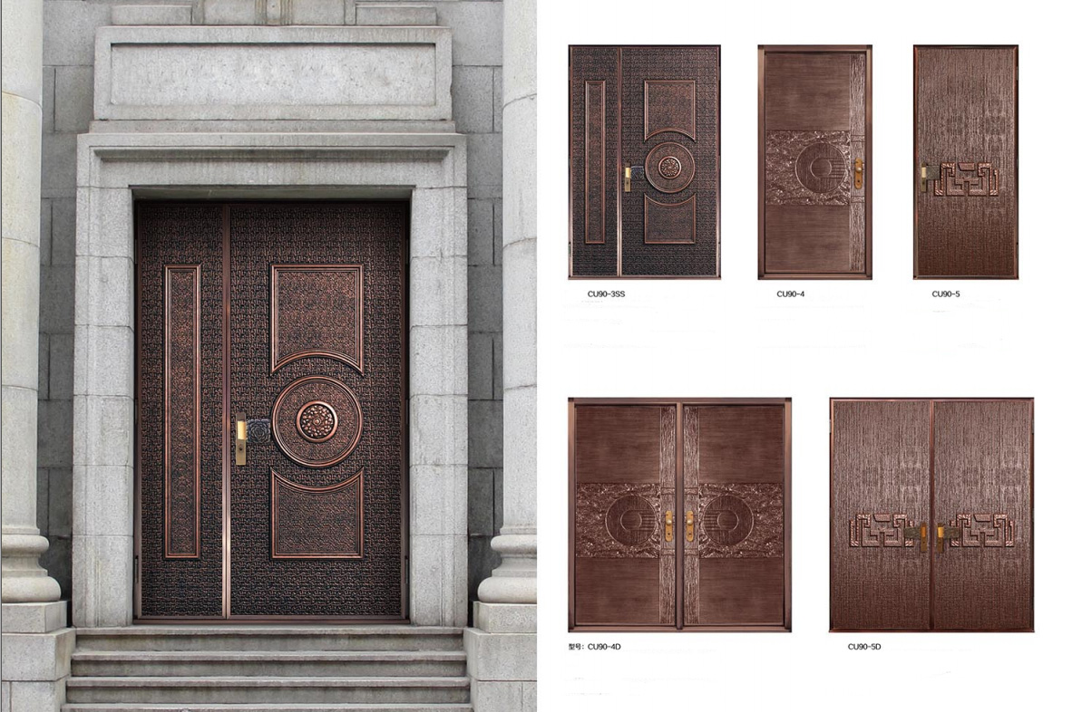 Doors Design: Exterior Copper Doors