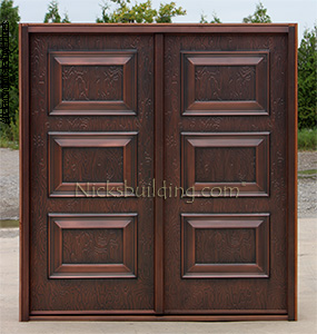 exterior copper doors shaker