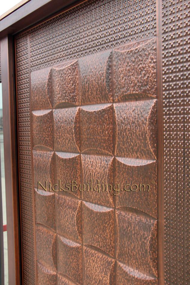copper door with sidelights