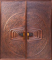 Custom Order Copper entry double doors