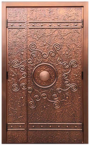 Custom Copper Exterior Doors with Sidelite