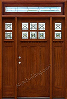 Craftsman Style Doors with Clear Glass