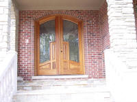large mahogany wood door