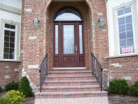 eight foot wood entry door