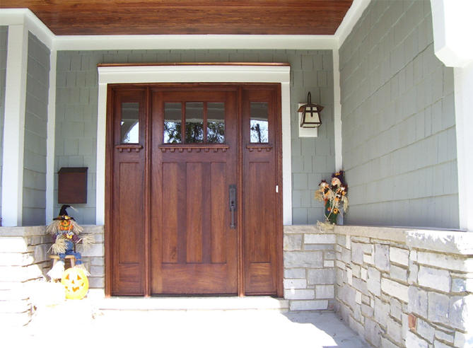 craftsman style front doorCraftsman Style Doors and Sidelights