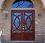 Olympus style wood entry door