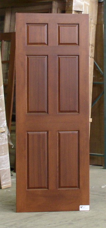 Mahogany 6 Panel Interior Doors
