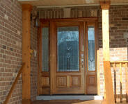 entry door with 2 sidelights