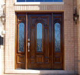 Model 525 wood door with shannon style glass