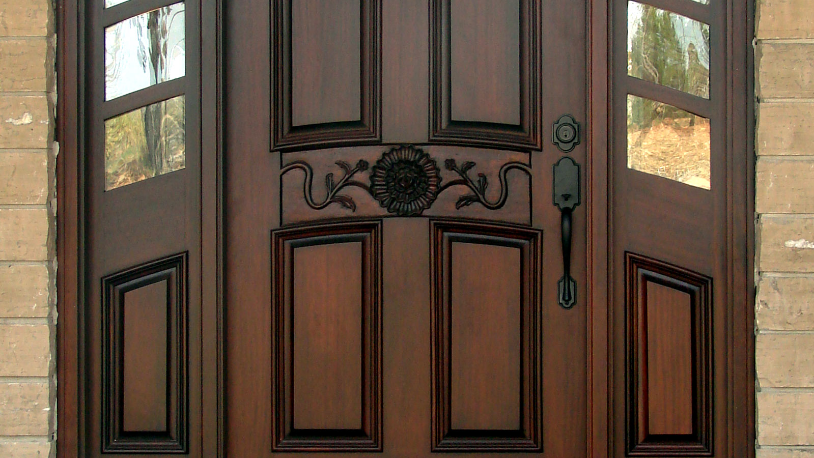 Wood door articles exterior wood doors interior wood doors for Exterior front entry doors