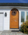 round top wood door