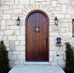 rustic round top door
