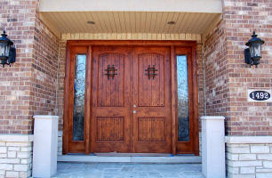 alder wood double door