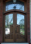 Large 600B mahogany door with transom