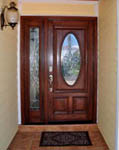 Wood door with 1 sidelight
