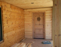 log cabin wood door