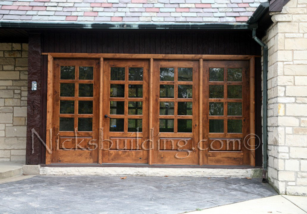 Rustic French Doors with Sidelight