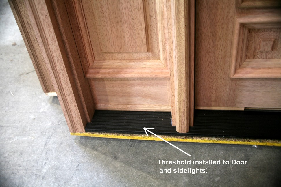 Prehung door 36 in x 80 in unassembled unfinished - How to install a prehung exterior door ...