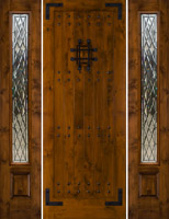 "sw70 8'0"" with 2 sidelights Gothic Chateau Glass"