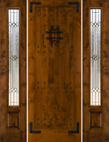 Exterior Rustic Doors Sw 70 With 2 Sidelights