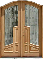 arched exterior double door