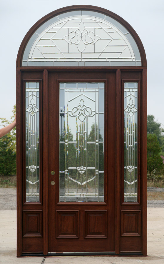 Stunning Door With Sidelights And Half Round Transom 2995
