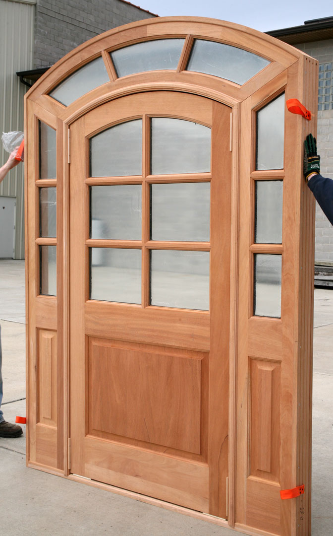 Radius Top Doors With Sidelights And Transom