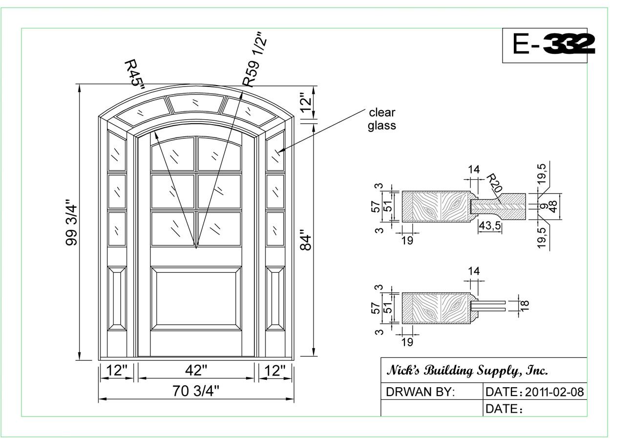 900 #606B60 Custom Door Series Radius Arch Top Door wallpaper Radius Top Entry Doors 38951290