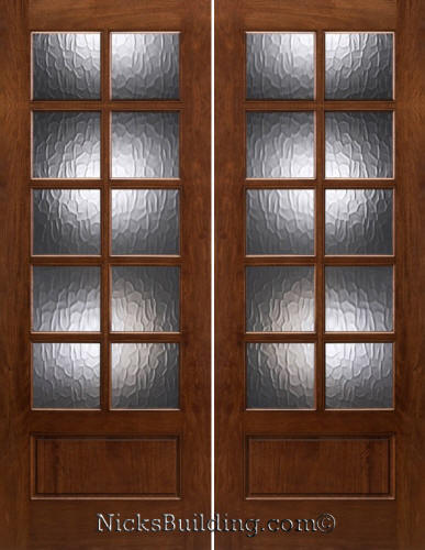 10 Lite Patio Doors With Flemish Glass