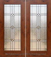 Rustic Patio Door Full Lite SW 250 With Builder Glass Patina Caming