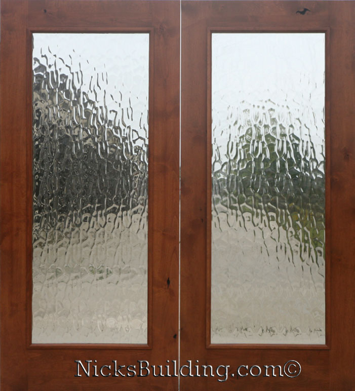Knotty Alder Real Wood Patio Doors With Flemish Glass