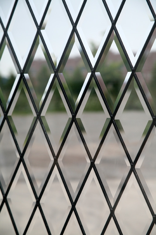 Beveled Glass Closeup
