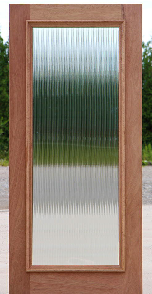 Shown On Shaker Doors Reed Glass For Full Lite Door