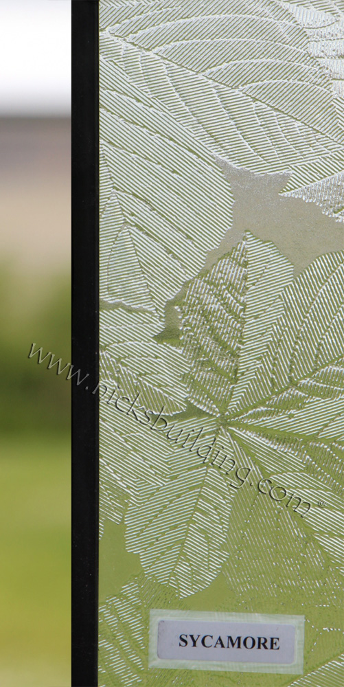 Custom Door Glass Pattern Sycamore at Nicksbuilding.com