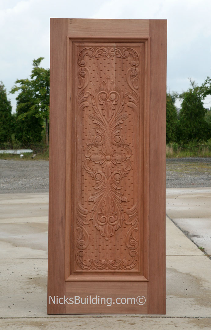 carved mahogany doors