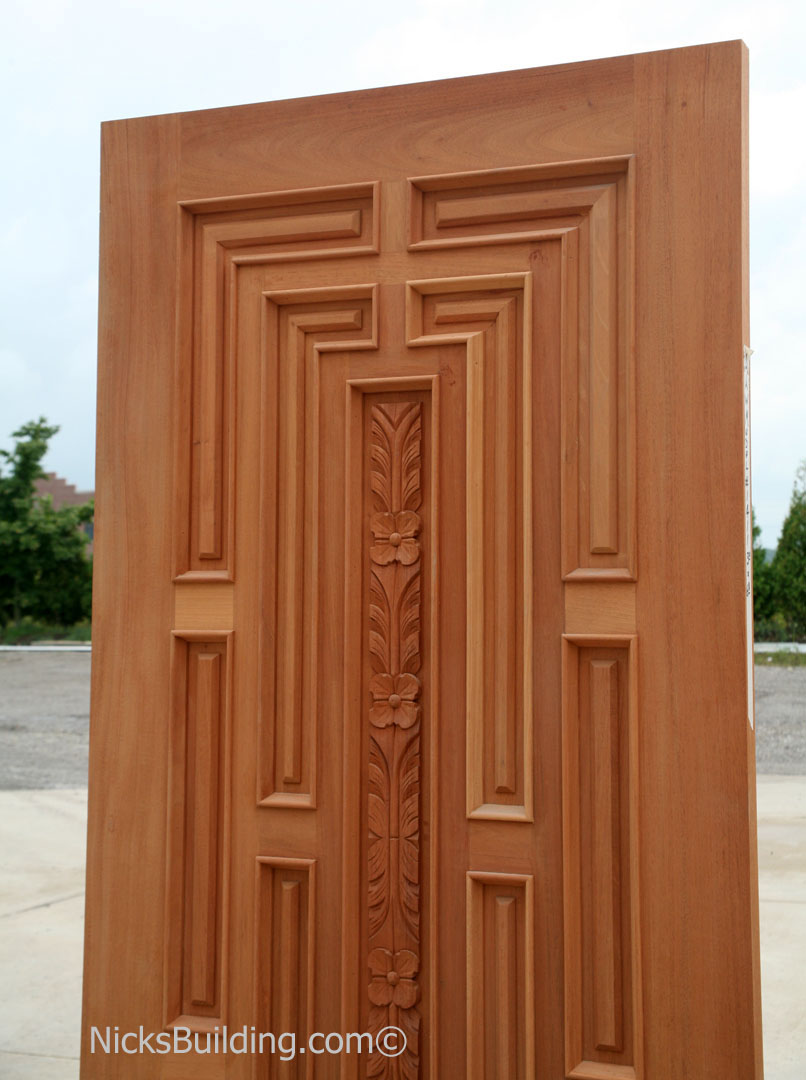 Exterior hand carved doors exterior carved mahogany doors for Hardwood exterior doors