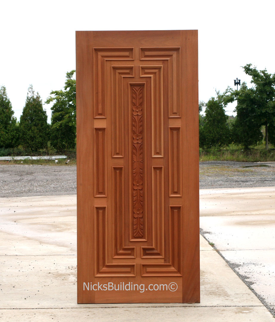 Exterior hand carved doors exterior carved mahogany doors for Wood front entry doors