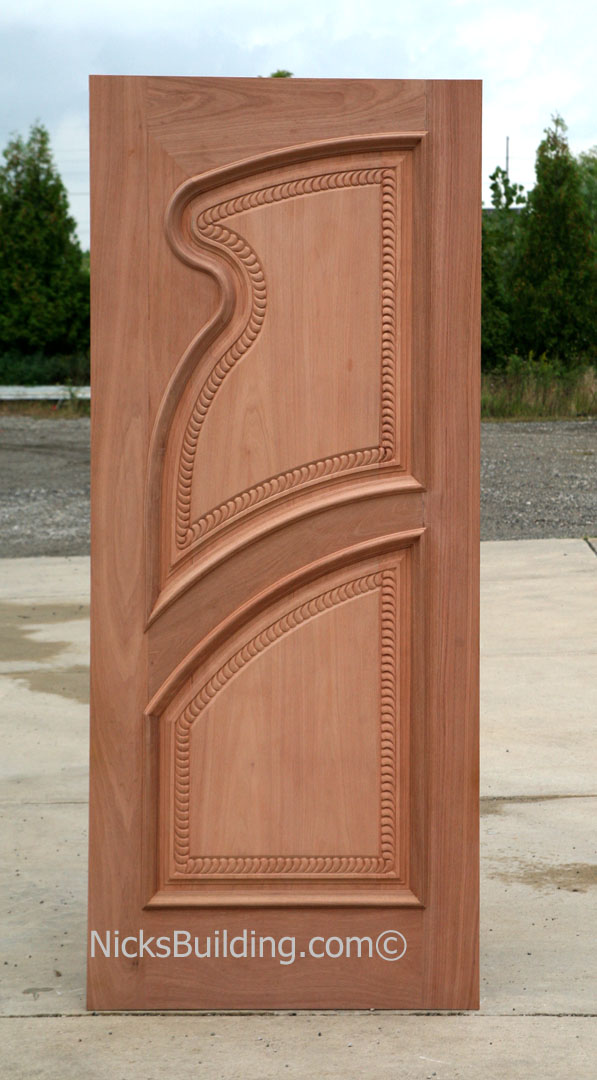 Hand Carved Solid Wood Doors - Exterior Hand Carved Doors