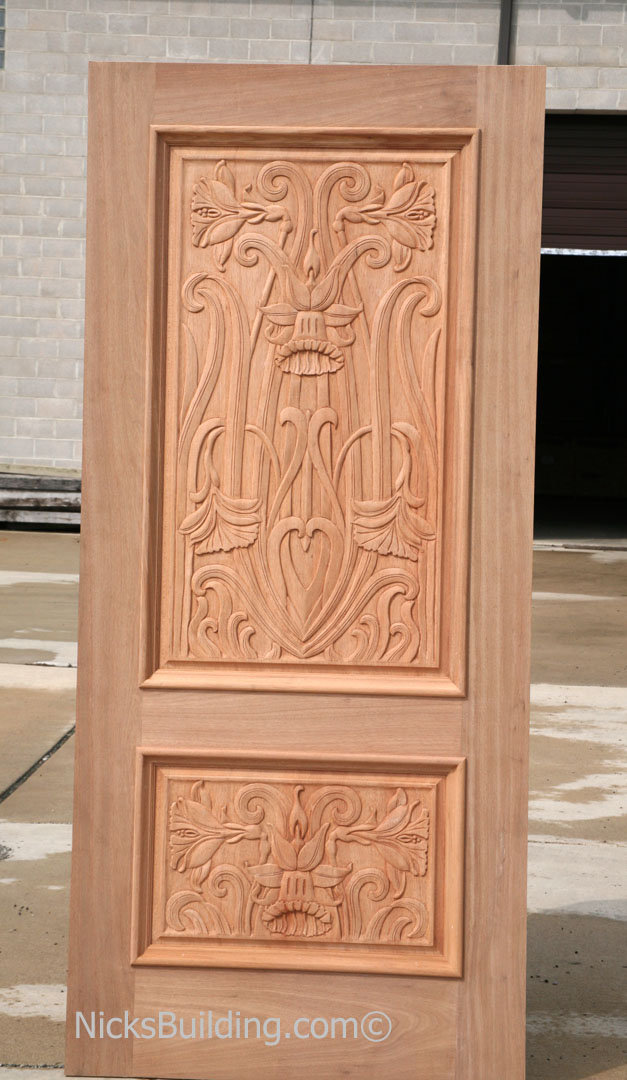 Hand carved doors mahogany