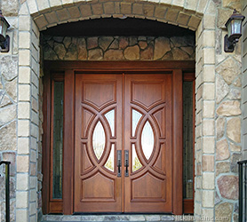 Exterior Mahogany Wood Double Doors - Olympus Portillo