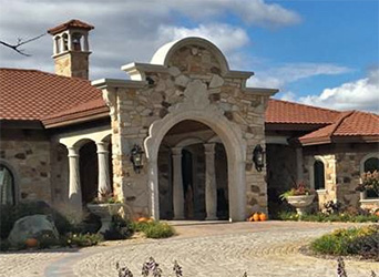 Custom Stone Home in Wisconsin