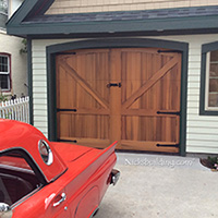 Clear Cedar Garage Doors