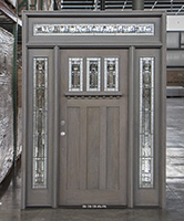 Craftsman Exterior Door with Grey Stain