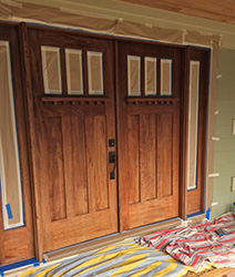 Craftsman Door refinishing before