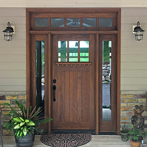 Craftsman door with 5-Lite Transom