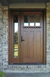 AC-601 Crafstman Style Door with Clear Glass and 1 Sidelite